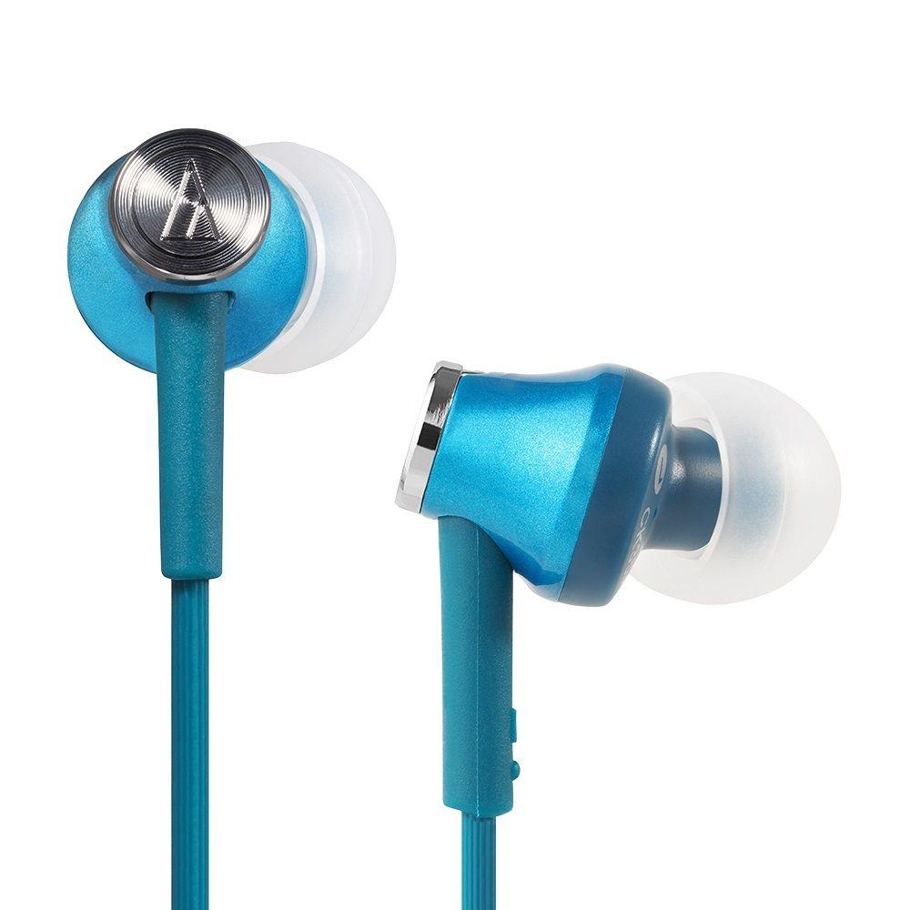 拆封福利品▶鐵三角 ATH-CK350M 藍綠色 耳道式耳機