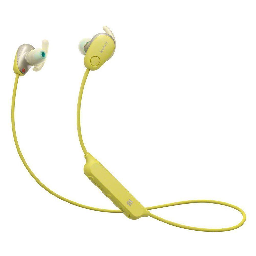 送運動腰包☀SONY WI-SP600N 黃色 藍牙運動降噪入耳式耳機