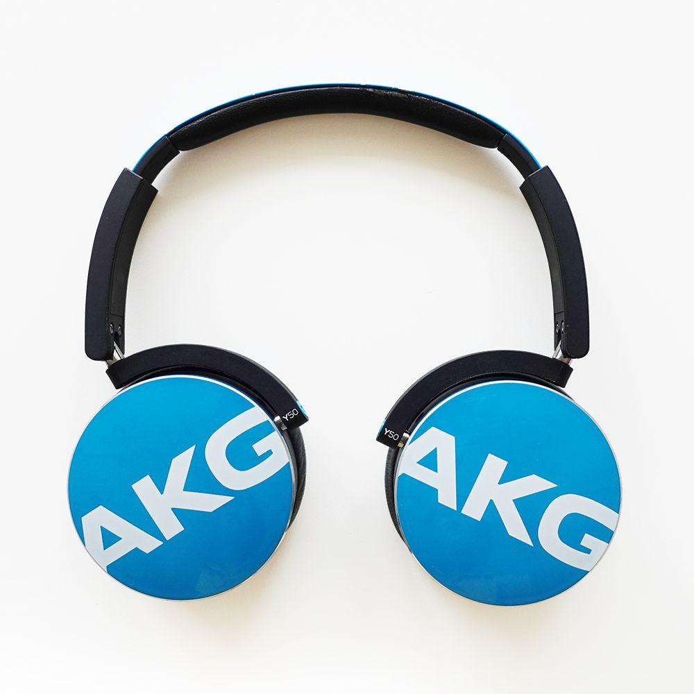 展示機出清▶AKG Y50 藍綠色 頭戴式通話耳機(福C-1049)