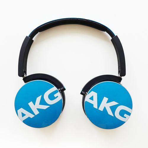 展示機出清▶AKG Y50 藍綠色 頭戴式通話耳機...